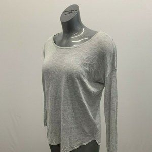 H&M Basic Sweater Women's Small Gray Scoop Acrylic